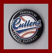 (Twilight Cullen Vampire Baseball 1 Inch Button )