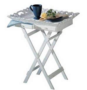 SKB Family Shabby Chic Tray Table gracious carved folding wood