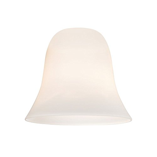 Satin White Bell Glass Shade - Lipless with 1-5/8-Inch Fitte