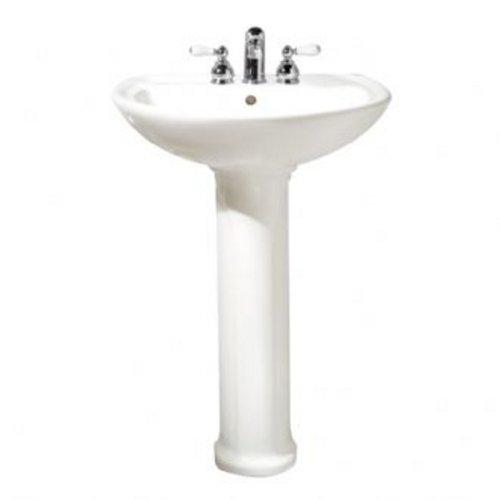 American Standard 0236.111.021 Cadet Pedestal Lavatory Sink, Bone (Sink Standard Cadet American)