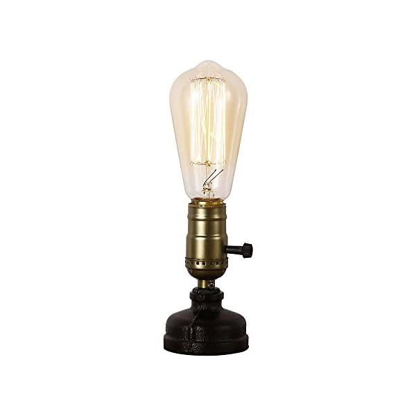 IJ INJUICY Retro Loft Rustic Vintage Industrial Steampunk Wrought Iron Edison Bulb Table Lights E27 Led Water Pipe Desk Lamps 3