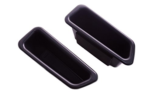 Vesul 2Pcs Black Front Row Door Side Storage Box Handle Pocket Armrest Phone Container Fits on Volvo S60 2009-2017 2018 V60 2009-2017 2018