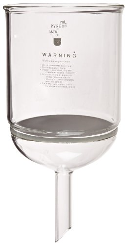 Corning Pyrex Borosilicate Glass Buchner Funnels with Fine Porosity Fritted Disc, 152mm Disc Diameter, 3000ml Capacity by Pyrex