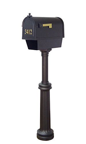 Special Lite Products Company Berkshire Curbside Mailbox With Newspaper Tube, Front Address Numbers And Bradford Mailbox ()