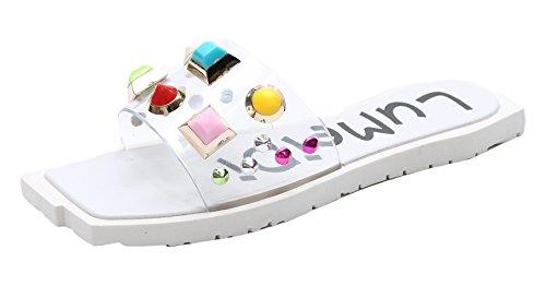 D'extérieur Tongs Candy Chaussons Beginning Auspicious Blanc Femmes Trendy Color wHXt0tq