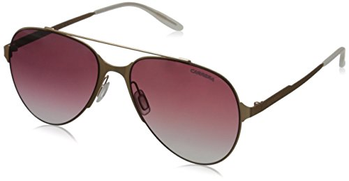 Carrera Men's Ca113s Aviator Sunglasses, Copper Gold/Dark Cyclamen Sf Gray, 57 - Carrera Nyc