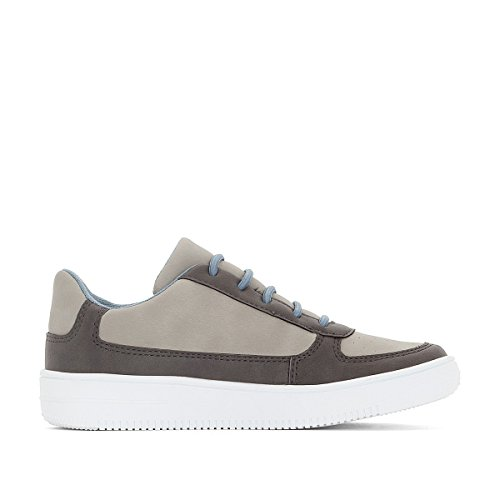 La Redoute Collections Big Boys Dual-Material Trainers, 26-40 Grey Size 31 (12.5 to 13) by La Redoute