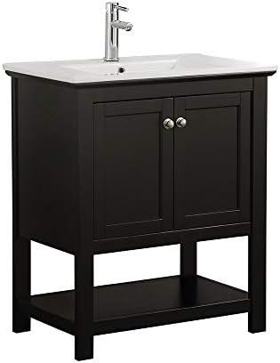 Fresca Manchester 30 Black Traditional Bathroom Vanity