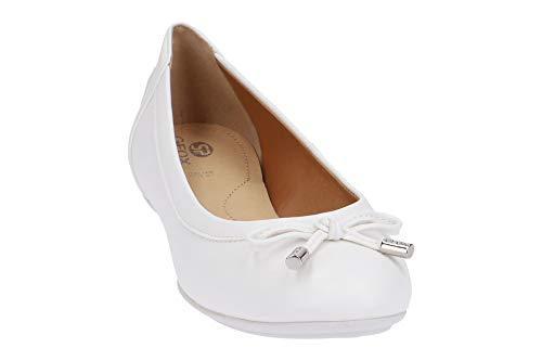 merceditas Planos zapatos Mujer en Blanco Lazo D84y7a elegante Clásicas fémina Verano Bailarinas Zapatos Charlene Del Geox ocio bailarinas bailarinas wIzSqq