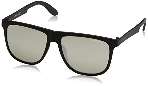Carrera CA5003ST Rectangular Sunglasses, Matte Black & Silver Mirror, 57 mm