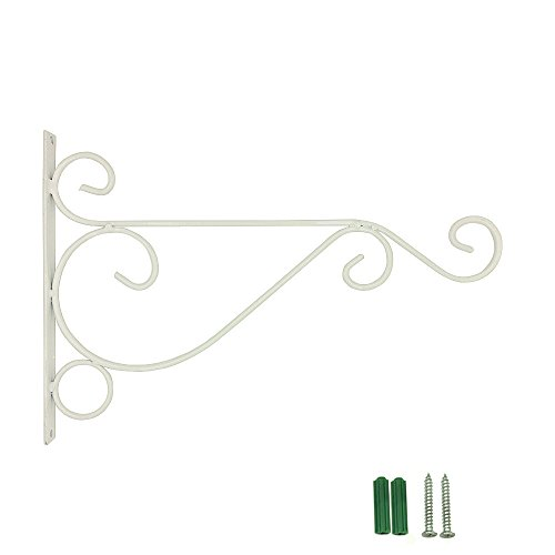 EtechMart Wall Hanging Bracket for Garden Basket Lantern Light Plant (Small, - Light Accent Plant Hanging Outdoor