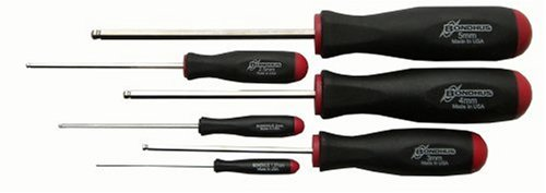 Bondhus 16686 Set of 6 Balldriver Screwdrivers with BriteGuard Finish, sizes 1.5-5mm