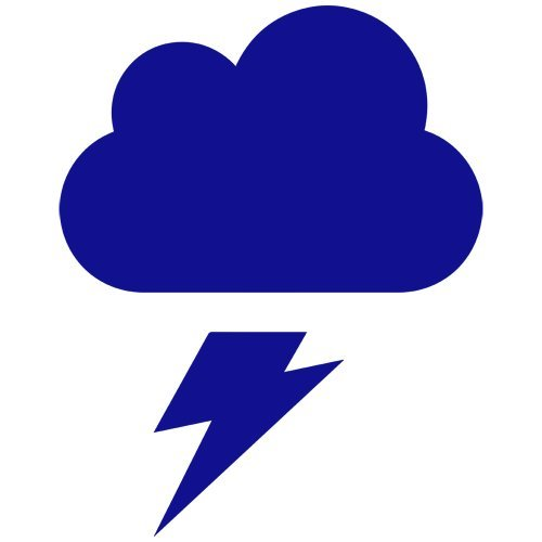 Thunder Lightning Cloud Decal Sticker (blue), - PEEL and STICK Graphic Sticker - Decorative Bumper Window Laptop Notebook Sticker - Lightning Window Graphic
