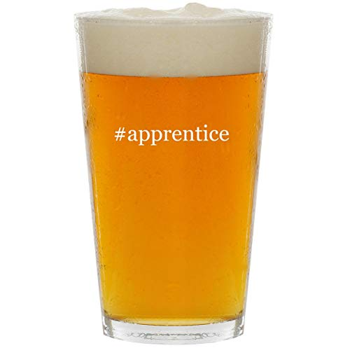 #apprentice - Glass Hashtag 16oz Beer Pint