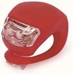 Stonges La bicyclette de bande de silicone de clip-on LED allume 2 le blanc et le rouge