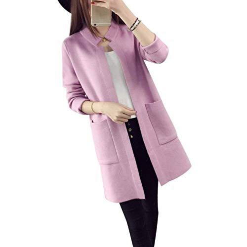 3 Aperto Cappotto Qualità Sciolto Moda Con 4 Outwear Autunno Maglia Primaverile Donna Abbigliamento A Casual Forcella Giacca Manica Pullover Di Comodo Alta Lunghi Grün Tasche PrPqf8w