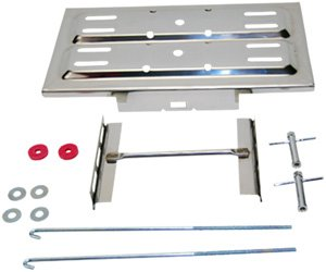 Battery Tray Kit, Universal with ''J'' Hooks (Polished Stainless Steel) by Richlou, Inc
