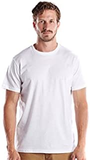 product image for US Blanks Men's 4.3 Oz. Short-Sleeve Crewneck M White