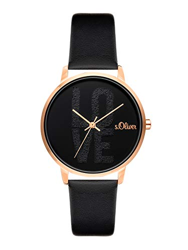 s.Oliver Time Womens Analogue Quartz Watch with PU Strap SO-3580-LQ