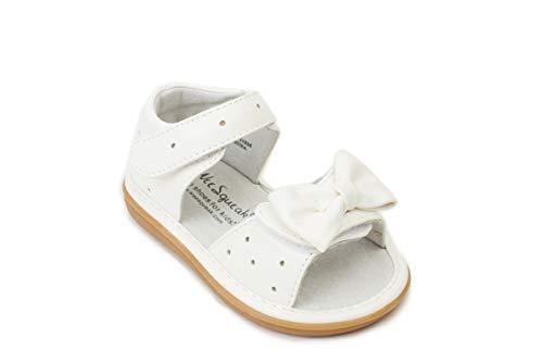 Wee Squeak Stella White Sandal Toddler Squeaky Shoe