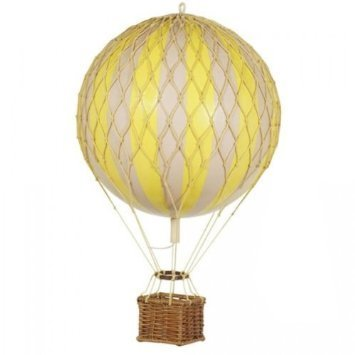 Yellow Hot Air Balloon - Authentic Models AP160Y Floating The Skies, True Yellow
