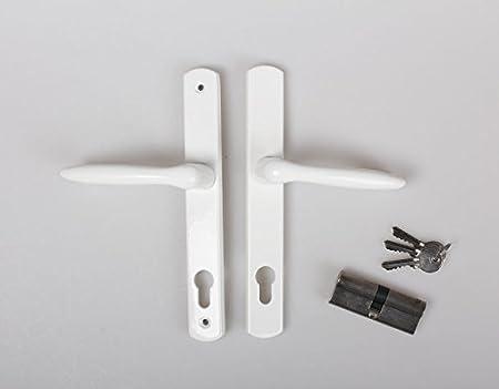 kuporta Kunststoff Haust/ür Carbo 108 x 200 cm DIN rechts wei/ß mit Dr/ücker-Set und Montage-Set