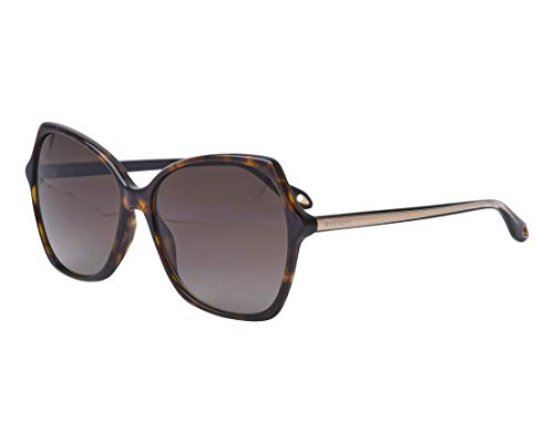Givenchy Women's Oversized Square Sunglasses, Dark Havana/Brown Gradient, One ()