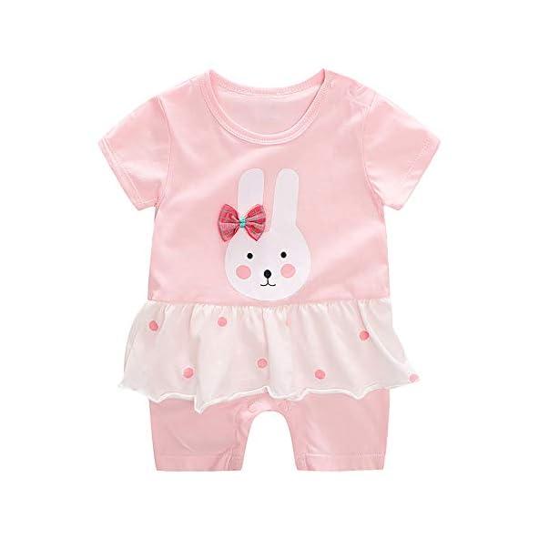 Baby Kangaroo Baby Girls' Rompers Romper (Pink, 12-30 Months)