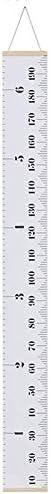 Usuny Growth Chart Waterdichte Hoogte Meetlinialen Muur Hanger Baby Kids Muur Tattoo voor Kwekerij Kamer Decor Verwijderbaar Wit 79 x 79in
