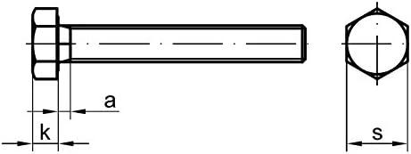 Edelstahl V2A 5 Stk Sechskantschraube DIN 933 M8 x 45