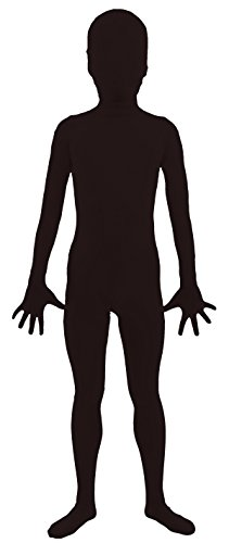 VSVO Kids Black 2nd Skin Full Body Zentai Supersuit Costumes (Medium, Black) (Dance Revolution Dance Costumes)
