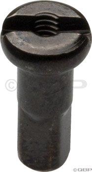 (Wheelsmith 14g brass nipple, 12mm - black bag/50)
