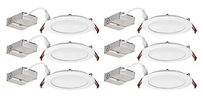 Lithonia Lighting WF6 LED 30K 80CRI MW CASEPACK6 Recessed Light 6 Inch White