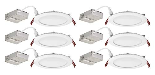 (Lithonia Lighting WF4 LED 30K 80CRI MW CASEPACK6 Recessed Light, 3000K Case Pack 6, White)