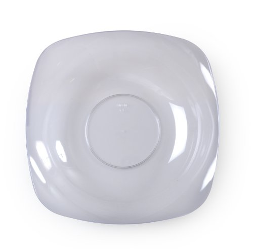 Fineline Settings Renaissance Clear Rounded Square China-Like 12 oz Bowl  120 - Bowl Square Rounded