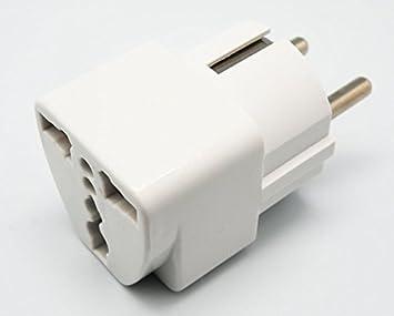 Euroconnex - Adaptador universal para España, Alemania y Francia, 250V 10-16A, modelo económico: Amazon.es: Electrónica