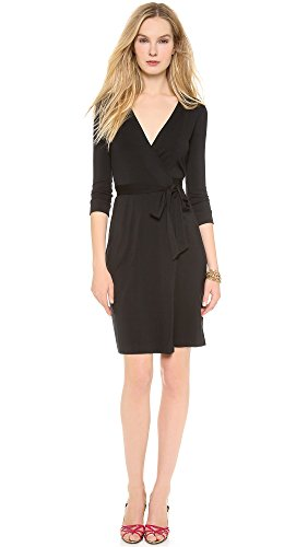 (Diane von Furstenberg Women's New Julian Two Wrap Dress, Black,)
