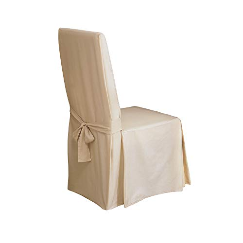 Sure Fit Duck Solid   Dining Room Chair Slipcover   Natural  SF15395