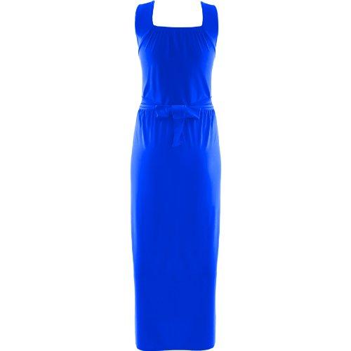Robe Femme Cocktail Soirée Drapé Maxi-Longue Grande Taille Boucle A La Taille - EU 48-50, Bleu Roi