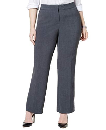 JM Collection Plus & Petite Plus Size Curvy-Fit Straight-Leg Pants (Rockport Grey, 20WP)
