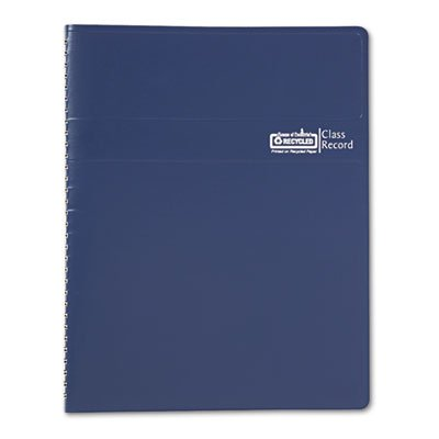Class Book, Embossed Leather-Like Cover, 11 x 8-1/2, Blue, Sold as 1 Each, 5PACK , Total 5 Each
