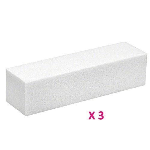 Yevison 3PCS White Nail Art Buffer Buffing Sanding Block Files Manicure Tool Nail Art Care High Quality by Yevison