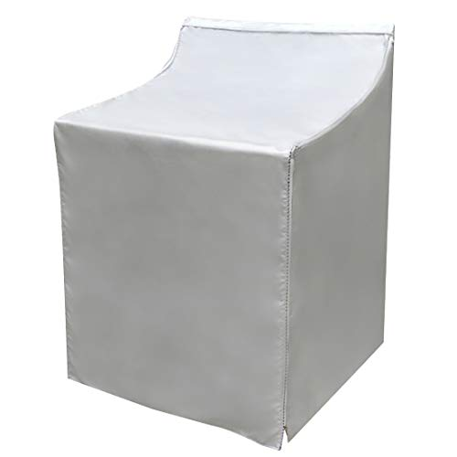 Covolo Washer/Dryer Cover,Suit for outdoor top-load and front load machine,Waterproof Dustproof Windproof Moderately Sunscreen Silver Coated(W29D28H40in)