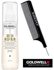 (Goldwell Dualsenses RICH REPAIR Restoring Serum Spray (with Sleek Steel Pin Tail Comb) (5 oz / 150 ml))