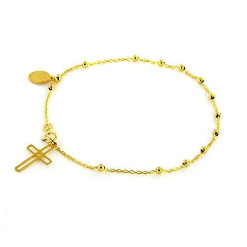Tous mes bijoux - Bracelet charms - Or jaune 9 cts - 18 cm - BRTP01004