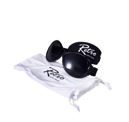 Kidz Banz Retro Banz Oval Kidz Sunglasses, Midnight Black by Baby (Kidz Banz Retro Sunglasses)