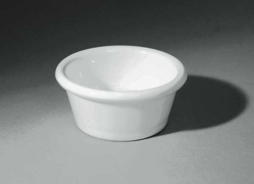 Gessner Products IW-0365-WH 3 oz. Smooth-Sided Ramekin- Case of 12