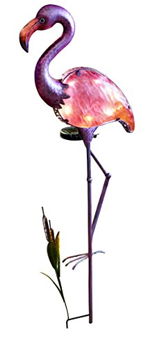 Plastic Flamingo Lights (Moonrays 92515 Solar Powered LED Flamingo Stake Light)