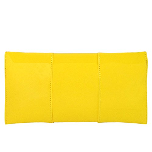 Patent Faux Envelope Leather Clutch Yellow Candy 661Yxr