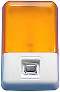 RV Trailer Camper Lighting Star Porch Light W/Switch & Amber Lens 007-40SAC